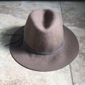 Saks Fifth Avenue Black Label Taupe Wool Hat